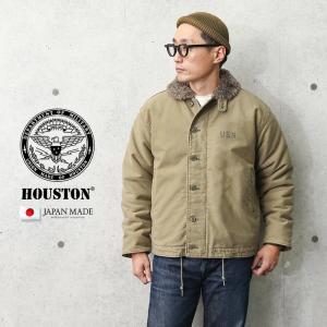 HOUSTON ヒューストン 5N-1DY 日本製 N-1 デッキジャケット ヴィンテージ オーバーダイ メンズ ミリタリージャケット アウター ジャンバー ブランド 新作 秋 冬|waiper