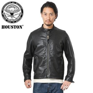 HOUSTON ヒューストン 8181 ベジタブルラムレザー シングルライダースジャケット メンズ ...