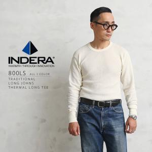 店内20%OFFセール! INDERA MILLS インデラミルズ 800LS サーマル NATURAL メンズ サーマル 長袖 Tシャツ ロンT 無地 ブランド|waiper