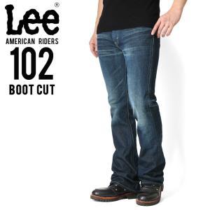Lee リー AMERICAN RIDERS 102 ブーツカット デニムパンツ 濃色ブルー【LM5102-526】 メンズ ジーンズ ジーパンブランド メーカー|waiper