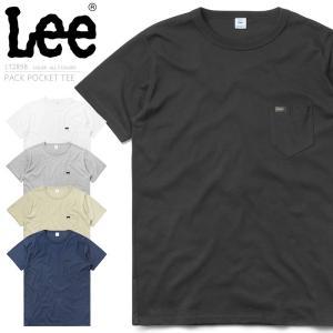 Lee リー LT2858 パック ポケット 半袖 クルーネックTシャツ メンズ レディース ポケT ポケット付き 無地 カットソー アメカジ ブランド 新作【クーポン対象外】|waiper