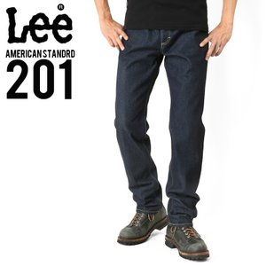 Lee リー AMERICAN STANDRD 201 ストレートデニムジーンズ ワンウォッシュ(100) ジーパン メンズ ジーンズ ズボン レギュラー ブランド|waiper