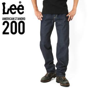 Lee リー AMERICAN STANDRD 200 フルカットデニムジーンズ ワンウォッシュ(00) ブランド メンズ ジーンズ ジーパン 長ズボン|waiper