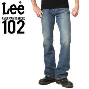 Lee リー AMERICAN STANDRD 102ブーツカットデニムジーンズ 濃色ブルー(194) メンズ ジーンズ ジーパン ズボン ブランド|waiper