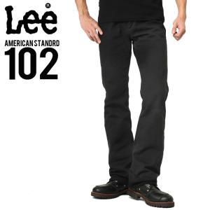 Lee リー AMERICAN STANDRD 102ブーツカットデニムジーンズ ブラック(75) メンズ ジーンズ ジーパン ズボン