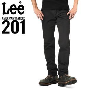 Lee リー AMERICAN STANDRD 201 ウエスターナー サテン ストレート パンツ ブラック(175) メンズ ズボン ブランド|waiper