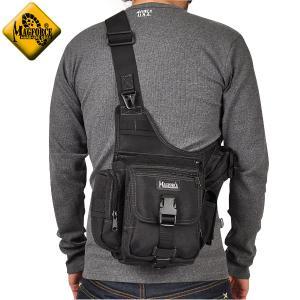 今だけ15%OFF! ミリタリーバッグ MAGFORCE マグフォース MF-0403 Fatboy Shoulderpack ショルダーバッグ ブラック ブランド|waiper