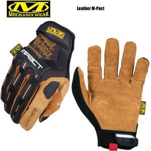 今だけ20%OFF! MechanixWear メカニクスウェア Leather M-pact Glove レザーエムパクトグローブ ブランド|waiper