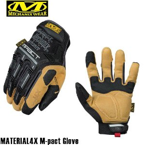 今だけ20%OFF! サバゲー グローブ 装備 Mechanix Wear メカニックス ウェア MATERIAL4X M-pact Glove(マテリアル4Xエムパクトグローブ) ブランド|waiper