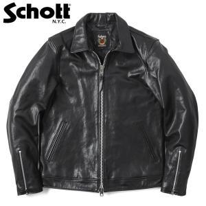 Schott ショット 3181076 シングルブレスト ライダースジャケット メンズ 皮ジャン 革...