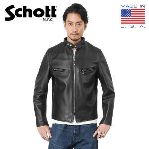 Schott ショット 641XX 60s シングル レザー ライダースジャケット 7009 メンズ...