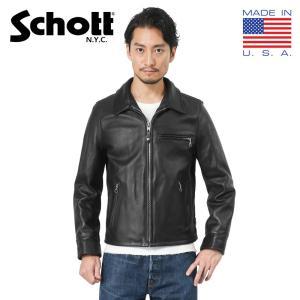店内20%OFFセール! Schott ショット 7209 103US TRUCKER レザージャケット 革ジャン ブラック [7209-009] ブランド|waiper