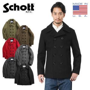 Schott ショット 753US 日本別注 24oz スリムフィット ピーコート メンズ Pコート...
