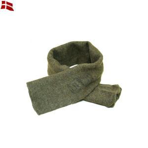 実物 デンマーク軍 ウールマフラー メンズ ミリタリー 防寒グッズ 放出品 軍用 軍モノ
