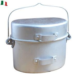 店内20%OFF! 実物 イタリア軍 アルミ飯盒 キャンプ アウトドア はんごう 登山 防災|waiper
