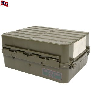 実物 新品ノルウェー軍トランスポートボックス ミリタリーBOX インテリア デッドストック【クーポン対象外】|waiper