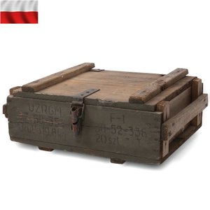 実物 USED ポーランド軍 TNTボックス ウッド ミリタリーボックス インテリア【クーポン対象外】|waiper