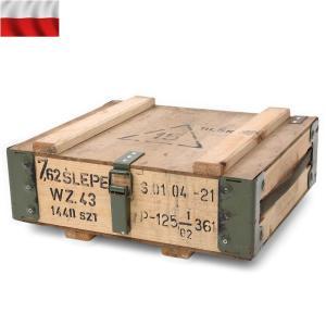 実物 USED ポーランド軍アンモボックス ウッド メタルフレーム ミリタリーボックス インテリア【クーポン対象外】|waiper