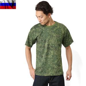 実物 新品 ロシア軍デジタル迷彩Tシャツ デッドストック カットソー 半袖 放出品 払い下げ品【クーポン対象外】 waiper