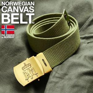 実物 新品 ノルウェー軍 キャンバスベルト#2 メンズ ミリタリー 放出品 ガチャベルト 布 デッドストック【クーポン対象外】|waiper