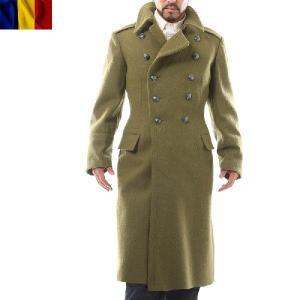 実物 新品 ルーマニア軍 ウールロングコート ミリタリージャケット 放出品 アウター 払い下げ品 デッドストック【Sx】 waiper