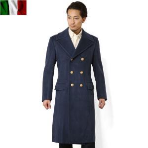 店内20%OFF! 実物 イタリア軍エアフォース ウールロングコート メンズ ミリタリー ネイビー 軍服 軍物 軍用 放出品|waiper