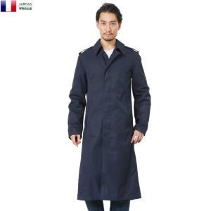 実物全品25%OFF! 実物 新品 フランス軍ステンカラーコート NAVY ロングコート トレンチコート|waiper