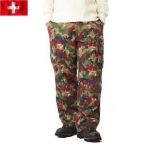 実物 スイス軍M-83フィールドパンツ USED アルペンカモ メンズ カーゴパンツ 軍パン ワイド 太め ミリタリーパンツ 迷彩柄 カモ柄【クーポン対象外】 waiper