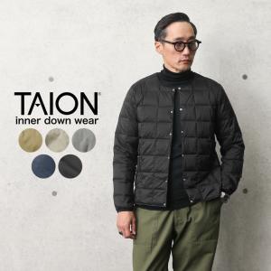 TAION タイオン TAION-104 クルーネック インナーダウンジャケット MENS メンズ ...