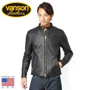 店内20%OFFセール! VANSON バンソン B シングルライダースジャケット レザージャケット メンズ 革ジャン ブルゾン ジャンパー 本革 ブランド|waiper