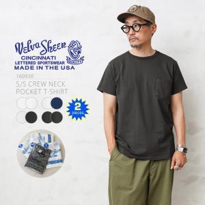 店内15%OFFクーポン出現中! Velva Sheen ベルバシーン S/S クルーネック ポケットTシャツ 2枚組 メンズ 半袖 無地 アメリカ製 MADE IN USA 160920 ブランド waiper