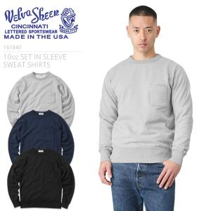 Velva Sheen ベルバシーン MADE IN USA 161840 10oz SET IN SLEEVE SWEAT SHIRTS トレーナー メンズ スウェットシャツ 裏起毛 アメカジ ブランド アメリカ製|waiper