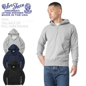 Velva Sheen ベルバシーン MADE IN USA 161841 10oz HALF ZIP PULL OVER HOODIE パーカ メンズ スウェットパーカー プルオーバー アメカジ ブランド アメリカ製|waiper
