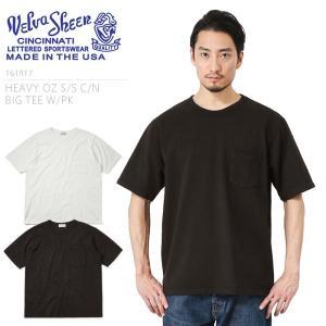 Velva Sheen ベルバシーン MADE IN USA 161917 S/S ヘビーオンス ポケット付きビッグTシャツ メンズ 無地 ルーズフィット ポケT ブランド アメリカ製|waiper