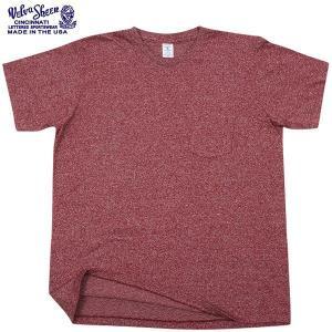 店内15%OFFクーポン出現中! Velva Sheen ベルバシーン 1PAC S/S MOCK TWIST クルーネック 半袖 Tシャツ BURGUNDY パックTシャツ アメリカ製 USA ブランド waiper
