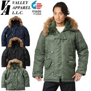 Valley Apparel バレイアパレル MADE IN USA N-3B フライトジャケット アメリカ製 メンズ ミリタリージャケット ブルゾン ジャンパー アウター ブランド|waiper