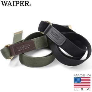 新品 MADE IN USA Dリング ベルト WAIPER.inc S-MF440W メンズ 布 キャンバス 無地 アメリカ製 USA 2017 春 新作
