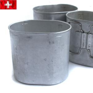 実物 スイス軍 アルミキャンティーンカップ ミリタリー 軍用 インテリア 雑貨 グッズ 小物 食器 鍋 調理器具 放出品 払い下げ品 サープラス waiper