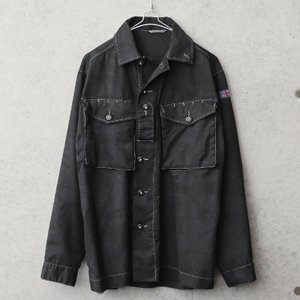 実物 USED イギリス軍 TROPICAL COMBAT ジャケット BLACK染め メンズ ミリタリージャケット シャツジャケット アウター 薄手【クーポン対象外】|waiper