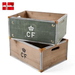 クーポン10%OFF! 新品 デンマーク軍 ストレージウッドボックス Large ミリタリー 収納 家具 インテリア 小物入れ アンティーク調 オシャレ|waiper