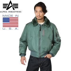ALPHA アルファ 1990年代デッドストック MADE IN USA VINTAGE B-15フライトジャケット SAGE メンズ ミリタリー アウター ブルゾン ブランド|waiper