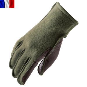 店内20%OFFセール! 実物 新品 フランス軍 ウールレザーグローブ《WIP》メンズ ミリタリー 手袋 防寒 秋 冬|waiper