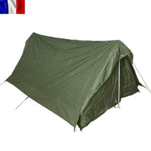 実物 新品 フランス軍 F1 テントセット 2人用 オリーブ|waiper