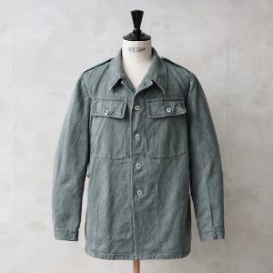 実物 スイス軍 前期型 デニムワークジャケット USED ミリタリー エポレット付き 放出品 軍服 waiper