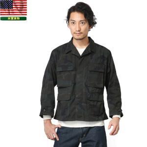 実物 新品 米軍 BDU WOODLAND CAMO ジャケット BLACK染め デッドストック メンズ ミリタリージャケット アウター サバゲー 野戦用 戦闘服【クーポン対象外】|waiper