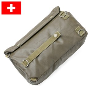 実物 スイス軍 ガスマスクバッグ USED ミリタリー ポーチ 鞄 カバン 放出品 waiper