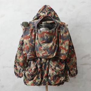 実物 スイス軍 マウンテンジャケット用アルペンカモバックパック USED ミリタリー リュック バッグ 迷彩 カモフラージュ 放出品 waiper