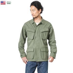 忠実復刻 新品 米軍 ジャングルファティーグ ジャケット(ベトナムジャケット)4thモデル メンズ ミリタリージャケット アウター ファティーグシャツ|waiper