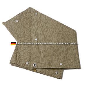 実物 新品 東ドイツ NVA テントシェル レインドロップカモ テントシート パップテント 軍幕 デッドストック ミリタリー 軍用 放出品 迷彩 カモ柄