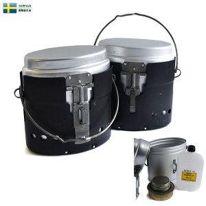 ■商品説明 実物 新品 スウェーデン軍 アルミメスティン(飯盒)セットのご紹介です。 飯盒、風防、ア...